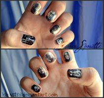 Harry Potter 7 inspired nails by KiraSTFD