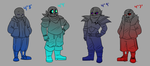 Height Chart - Sanses by The-NoiseMaker