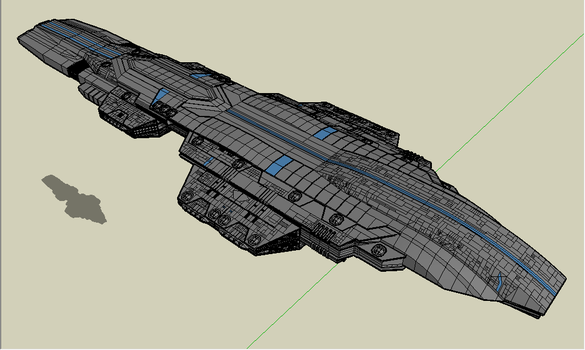 starship heavy carrier by emppyrean