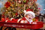 Baby Santa in a Wagon by kurtywompus
