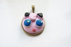 Jigglypuff Necklace by ButtonxMushroom