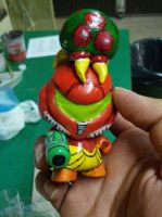 Samus and Metroid Micro Munny by tripled153