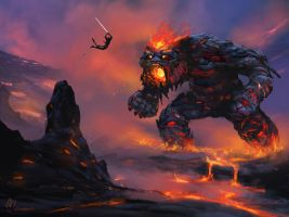 Lava Golem by jjpeabody