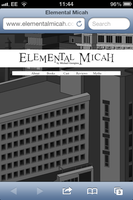 Elemental Micah Website - iPhone 4, Safari by MHG5