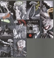 War of the Worlds Sketch Cards by tedwoodsart