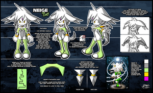 Neige the Cat - Model Sheet by R-no71