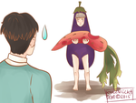 SnK | Eggplant and carrot by KsiezniczkaOlya