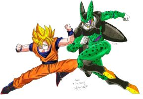 Goku Vs Cell by MikeES