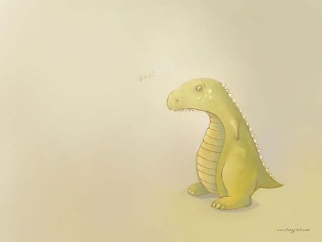 Green Dino - Wallapaper by TinyPilot