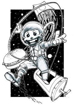 Ronald In Space pencil ink by EricKenney