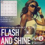 38 Flash, Sparkle and Shine - Photoshop 7+ Brushes by KeepWaiting