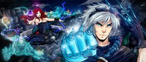 Pentakill Sona and Frozen Ezreal Season 3 by KoSakura