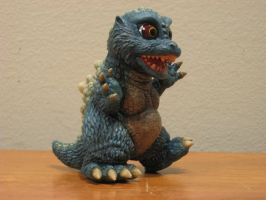Little Godzilla side view by Legrandzilla