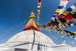 Boudhanath Prayer Flags by cwaddell