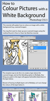 How to Colour Pictures with a White Background by hpuff