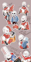 Sketch Doodles :  Papyrus doodles ^^ by shallowdeepcreation
