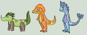 New Starters by OverpoweredClefairy
