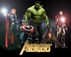 The Avengers movie wp by SWFan1977