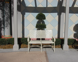 Bench in a Niche full Front View by WDWParksGal-Stock