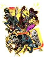 Psychobilly Zombies Band by AZEITONA