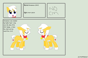 MLP Doraemon Reference Sheet (Yellow) by Puppies567