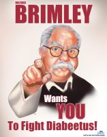 Wilford Brimley Poster by DarthTerry