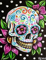 Sugar Skull and Polka Dots by VanZanto