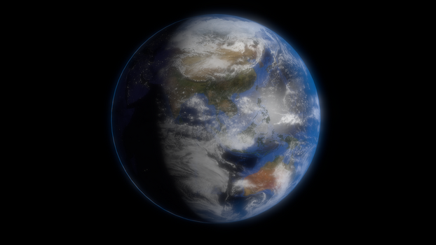 3d Earth Render by jugapugz