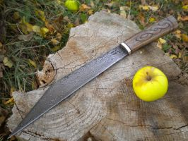 Damascus seax by hellize