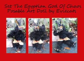 Set The Egyptian God of Chaos Posable Art Doll by Eviecats