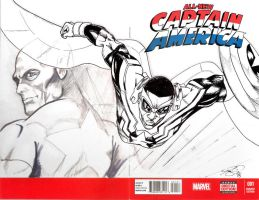 All New Captain America #1 Sketch Cover (inked) by Jamibug