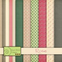 Rose paper pack by paperstreetdesigns