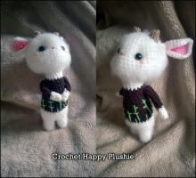 Cute little goat crochet by Shia-Amigurumi