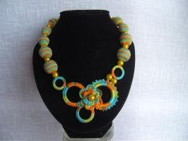 Rainbow Necklace by eva-crochet