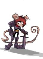 Warrior Mouse from Unfinished Series by DaveTheSodaGuy