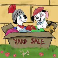 dress up at the yard sale box by TwoToneDearly
