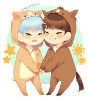 Soonseok animal outfits! by makikhou