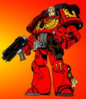 Blood Angels Space Marine by Archnagel
