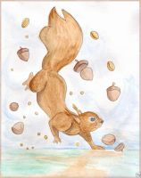 Nuts and squirrel by Tanami-M
