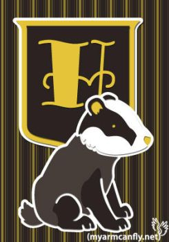 The Hufflepuff Badger by myarmcanfly