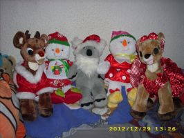 Build a Bear plushies with Rudolph and Clarice by kratosisy