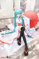 Umbrella - Miku Cosplay by MonCosplay