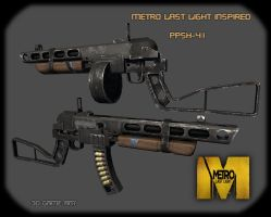 Metro Last Light Inspired PPSh-41 by scottmack1