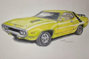 1971 383 Plymouth Roadrunner -commission- by Miahii
