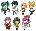 Vocaloid Stickers by fir3h34rt