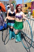 Hooping Mermaids by BenaeQuee