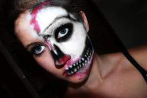 Skeleton makeup by Creativemakeup