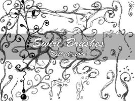 Swirl brushes by Kittyd-Stock