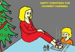 happy christmas for gourmet foot eater by footeat