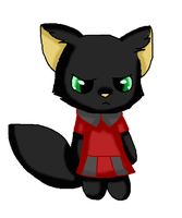 Webkinz Black Cat With A Dress On by usagiemiller